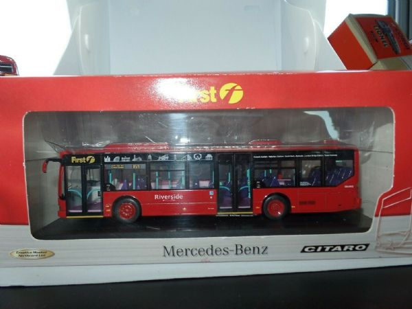 CMNL UKBUS5001 Mercedes Citaro Ridgid First London Riverside RV1 1Mirror